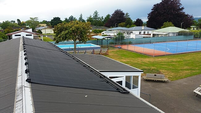 Swimming pool solar heating