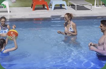 como calentar el agua de una piscina
